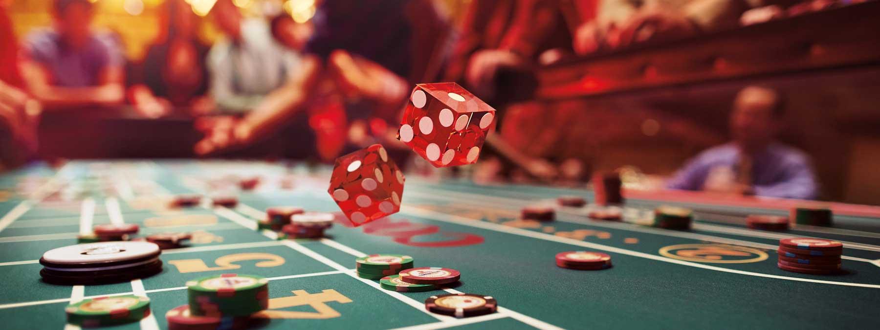 Green casino table